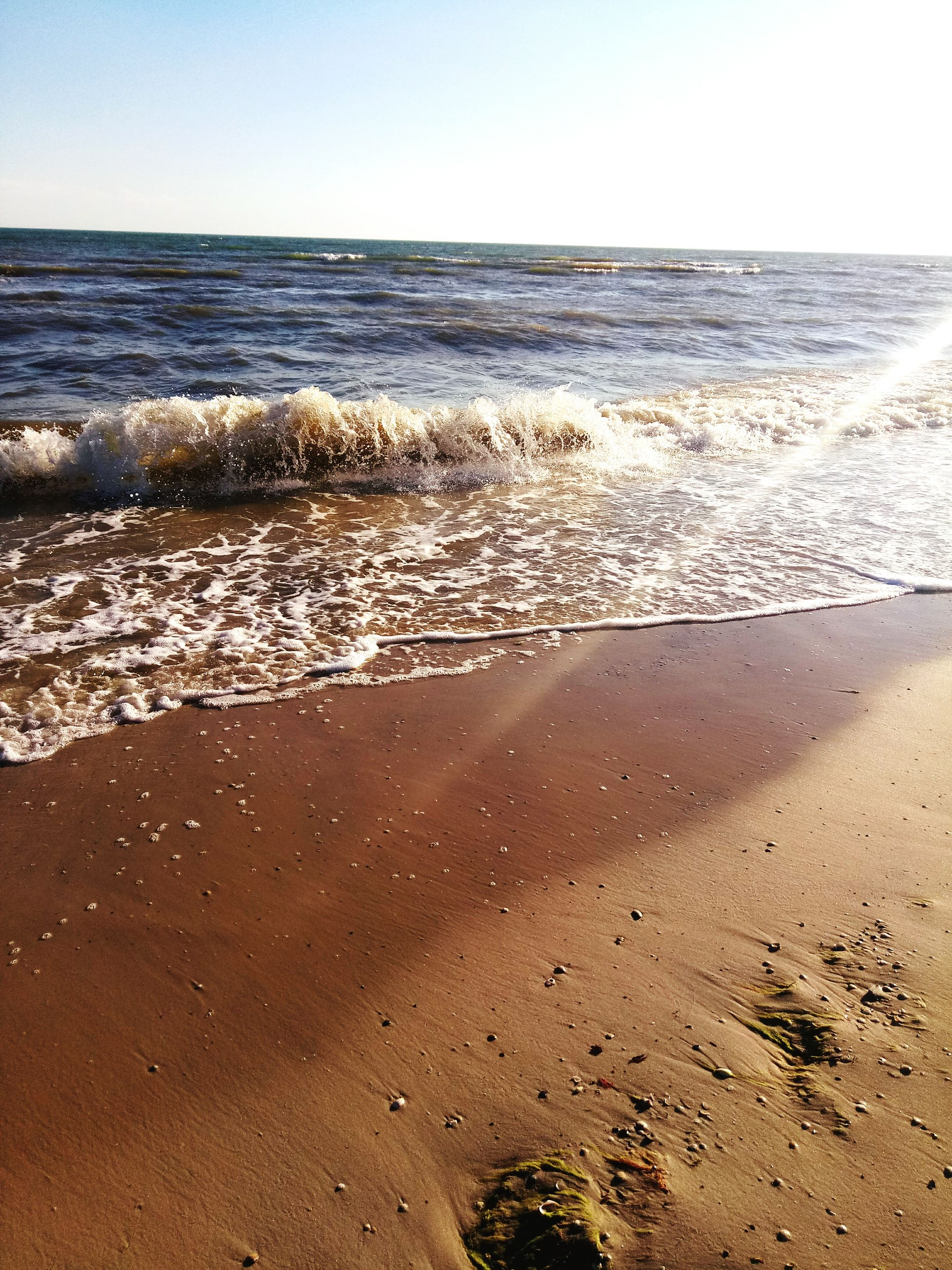 sea, nature, beach, sand, beauty in nature, horizon over water, scenics, tranquility, water, sunlight, tranquil scene, no people, wave, clear sky, outdoors, sky, day