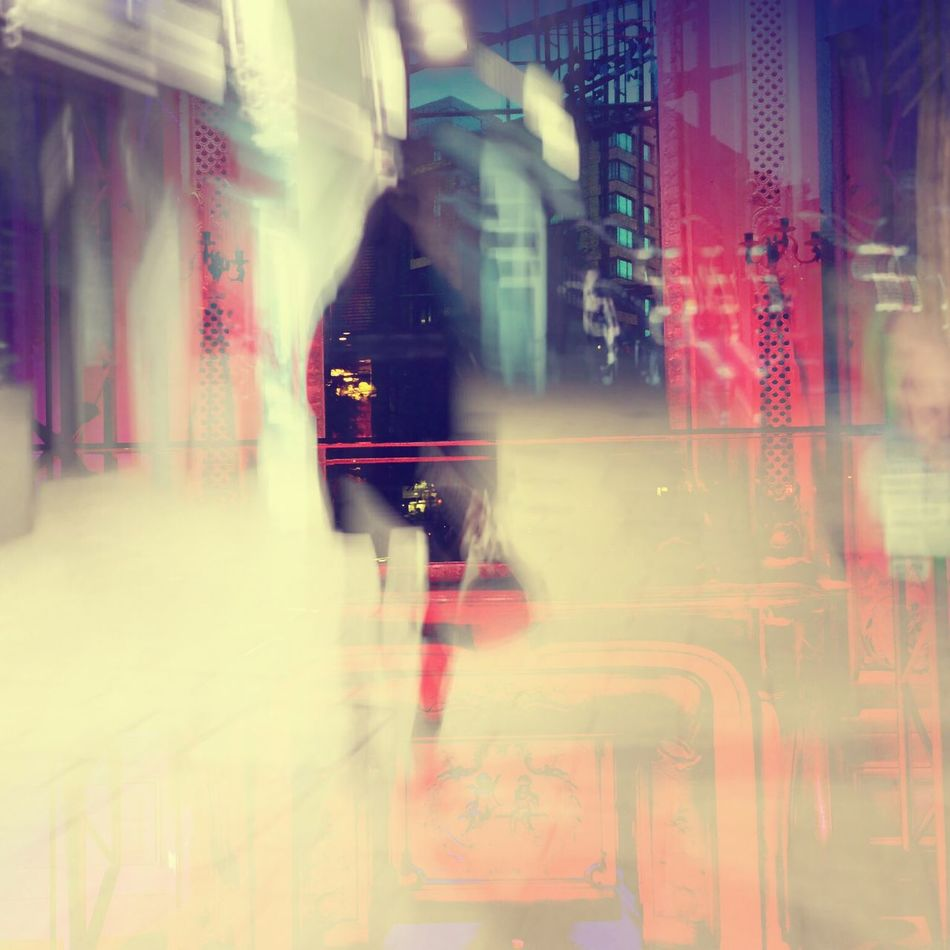 Last Shopping Night Lights Double Exposure Shopping Abstract