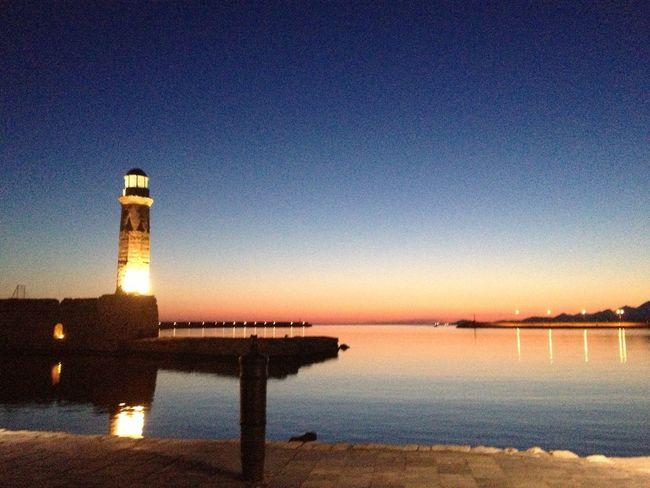 Rethymno Lighthouse Sunrise Porn