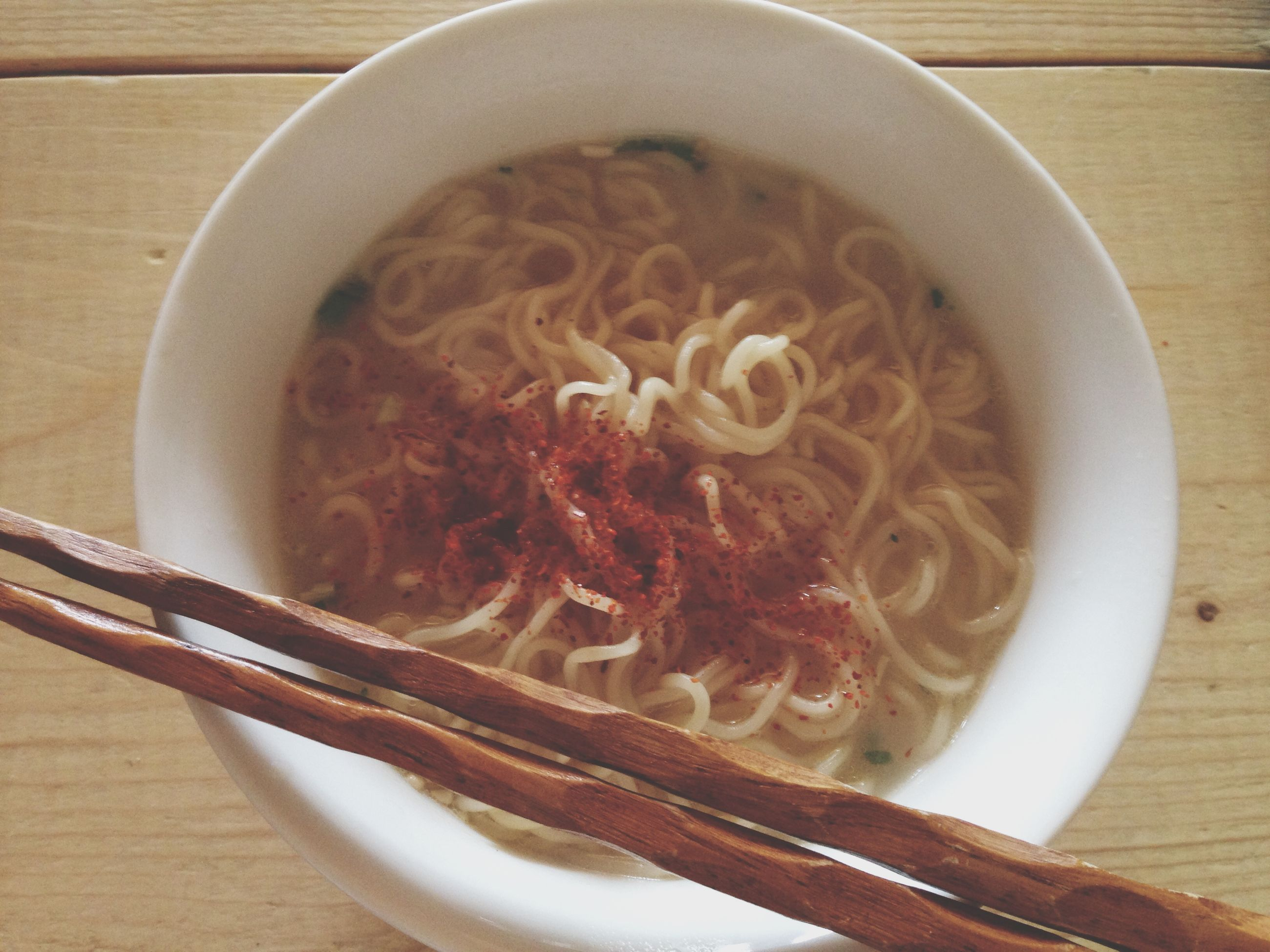 indoors, food and drink, food, table, freshness, high angle view, still life, plate, healthy eating, close-up, ready-to-eat, bowl, directly above, noodles, spoon, meal, serving size, no people, indulgence, wood - material