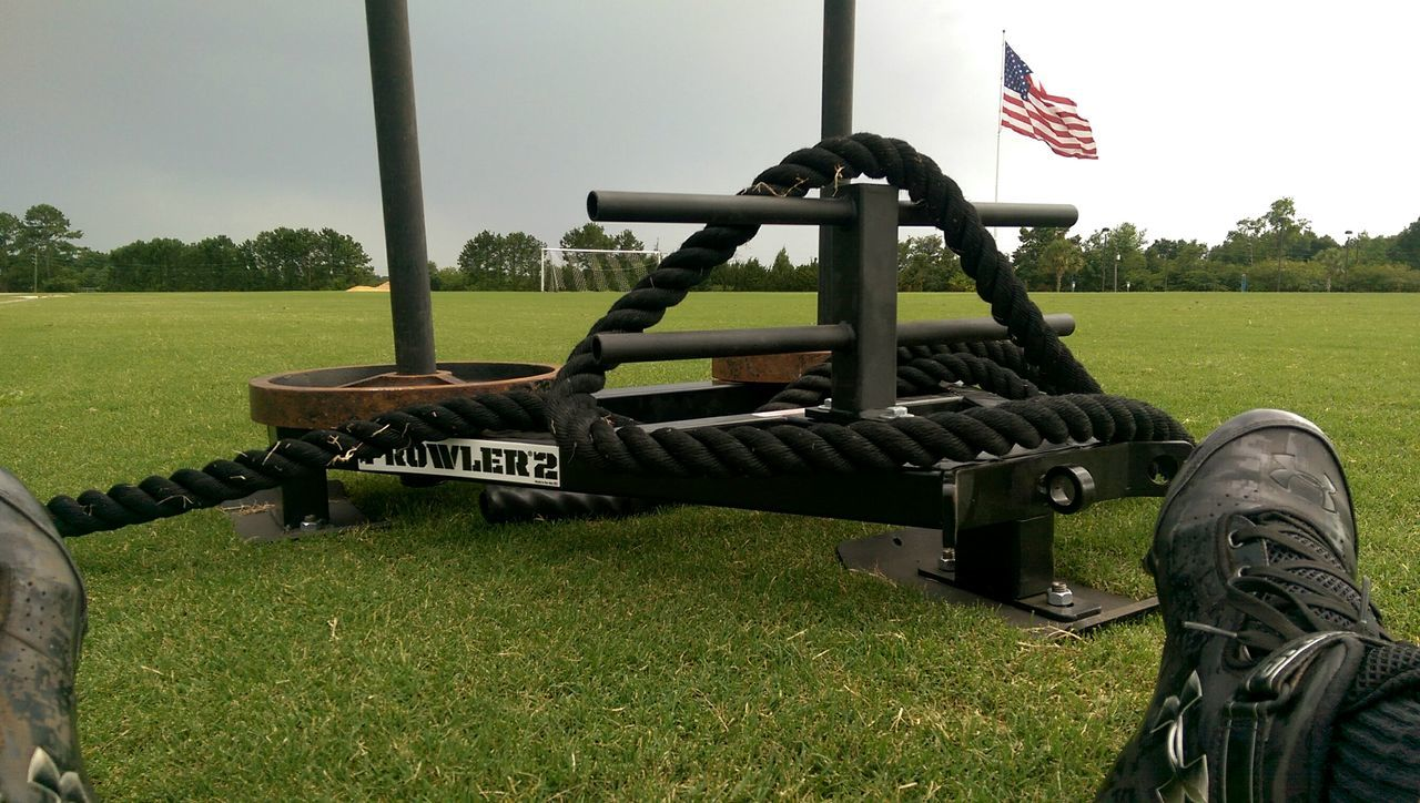 That Veterans day workout. Fitness Prowler Sled Weights Endurance Outdoors Workout Cardio Fine Art Photography