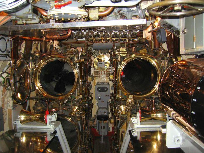 Torpedo tubes. Brass Gleaming Metal Machinery Nautical Nautical Vessel Shiny Things Submarine Torpedo Tubes