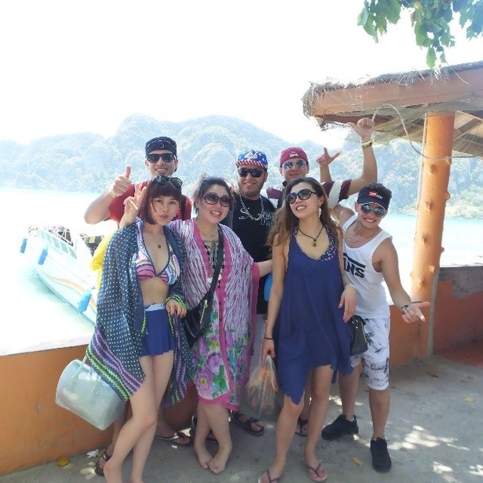 With pretty japanes girls .. It's damn GD time on phi phi island Thailaind Thailaind Thai Phiphi Island pretty japanes ladies libyan boys