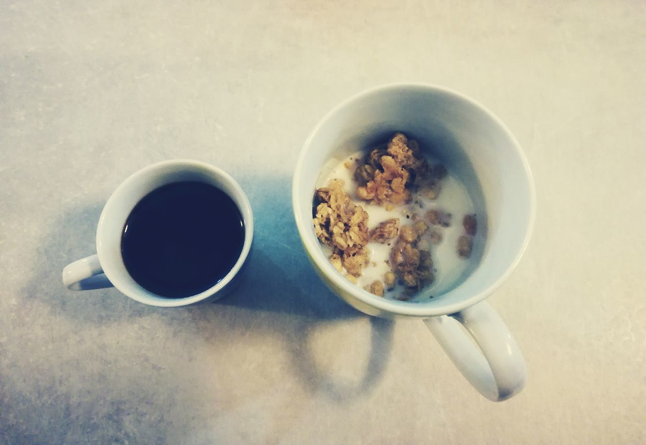 Breakfast Coffee Drink Food Colazione Muesli Cereals Close-up Food And Drink Coffee Cup