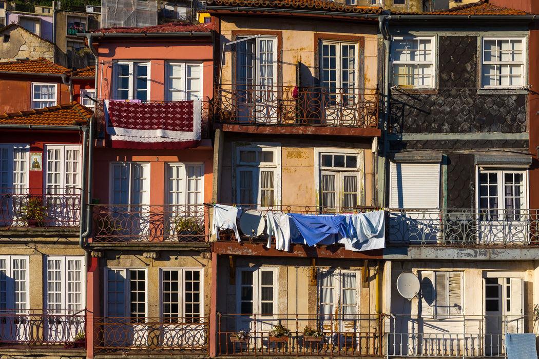 Houses of Porto Architecture Balcony Building Building Exterior City City Life City Life Cityscapes Douro  Façade Faces Of EyeEm Façade Houses Houses And Windows Porto Portugal Portwine Residential Building River Street Summer Tourism Travel Destinations Travel Photography Window