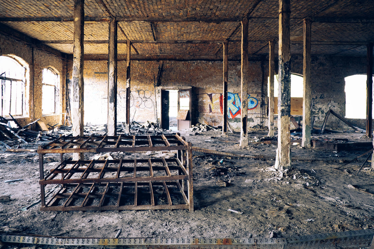 abandoned, damaged, indoors, no people, window, wood - material, architecture, run-down, weathered, bad condition, day, large group of objects, built structure, destruction
