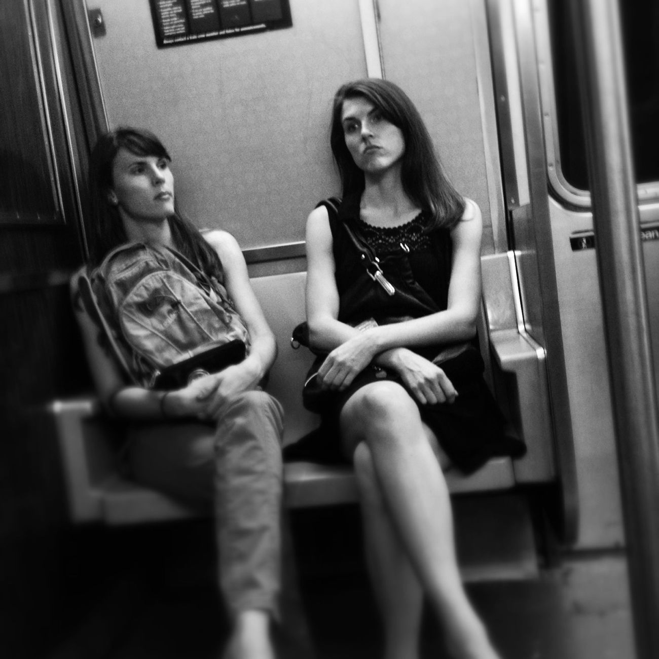 Bored Sisters Subway Streetphotography Streetphoto_bw