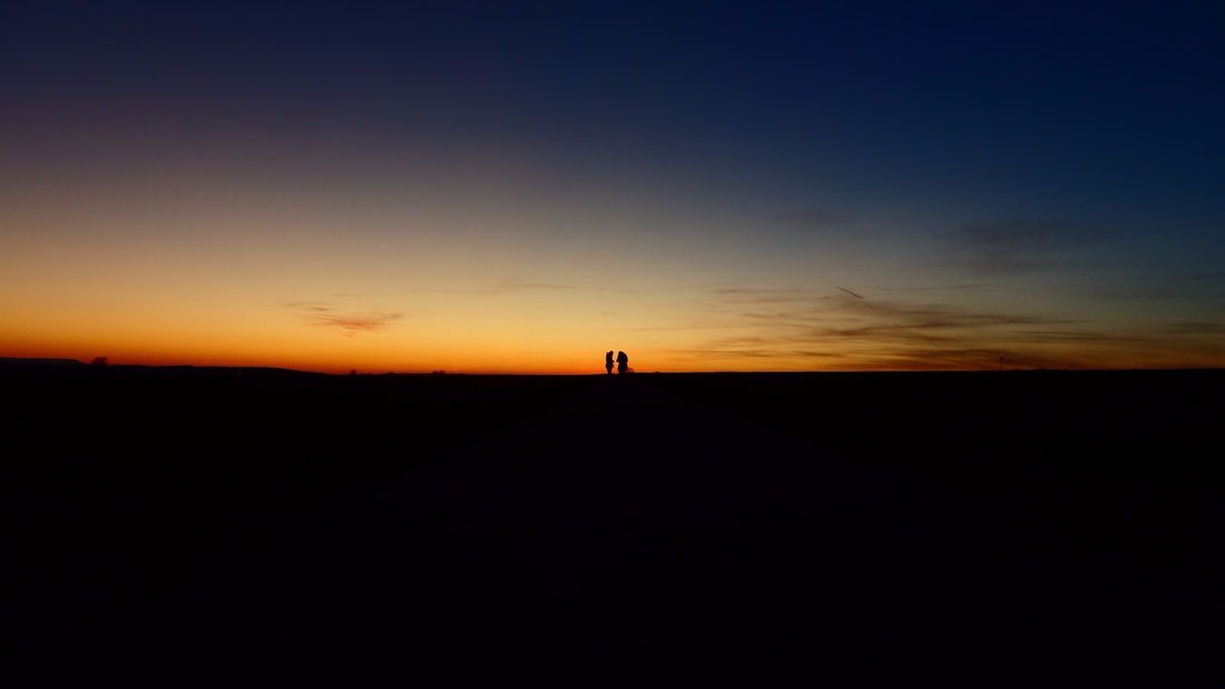Sunset Sunset Silhouettes Silhouettes Strangers Enjoying Silence In My Own World