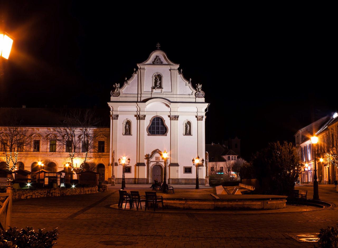 Church City Hobbyphotography Hungary Night Night Lights Nightphotography Outdoors Street Light