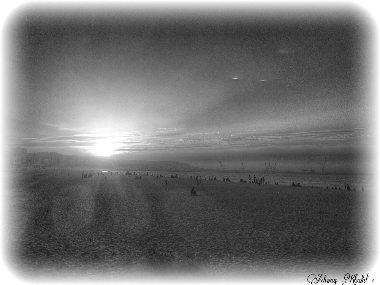 Sunset in Blackandwhite over Tangier! Monochrome