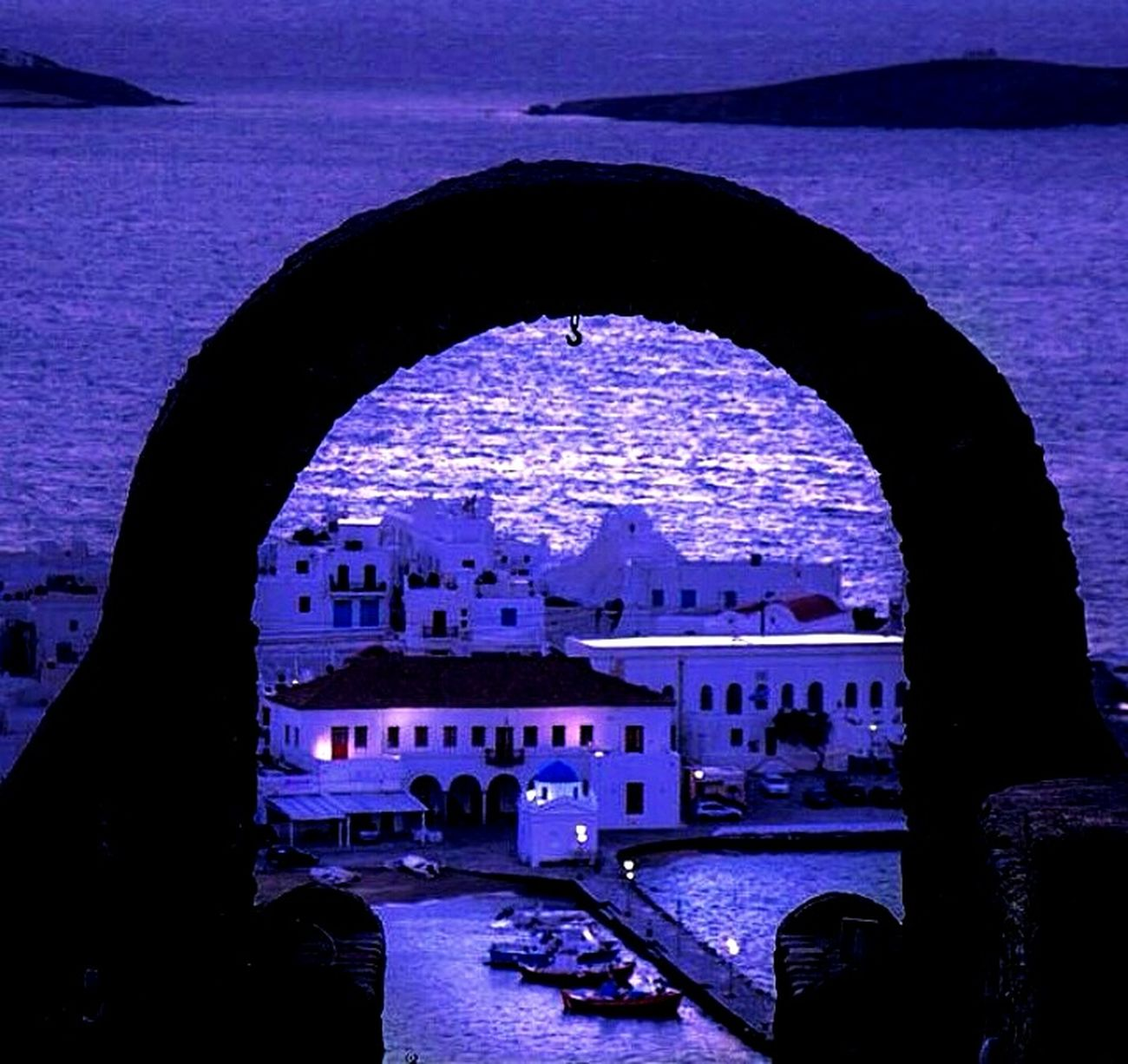 Night Nightphotography Mykonos Sea EyeEm First Eyeem Photo Moonlight Photography Travel Sea Views