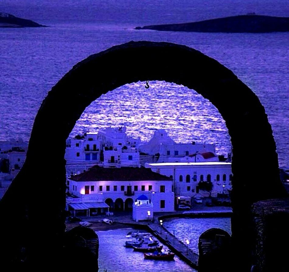 Night Nightphotography Mykonos Sea EyeEm First Eyeem Photo Moonlight Photography Travel Sea Views