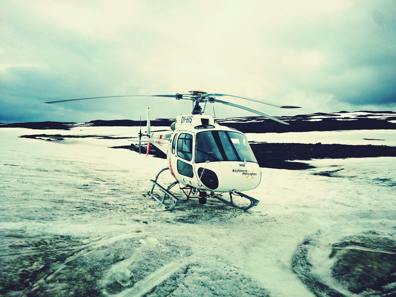 Helicopter Snow I Love Iceland