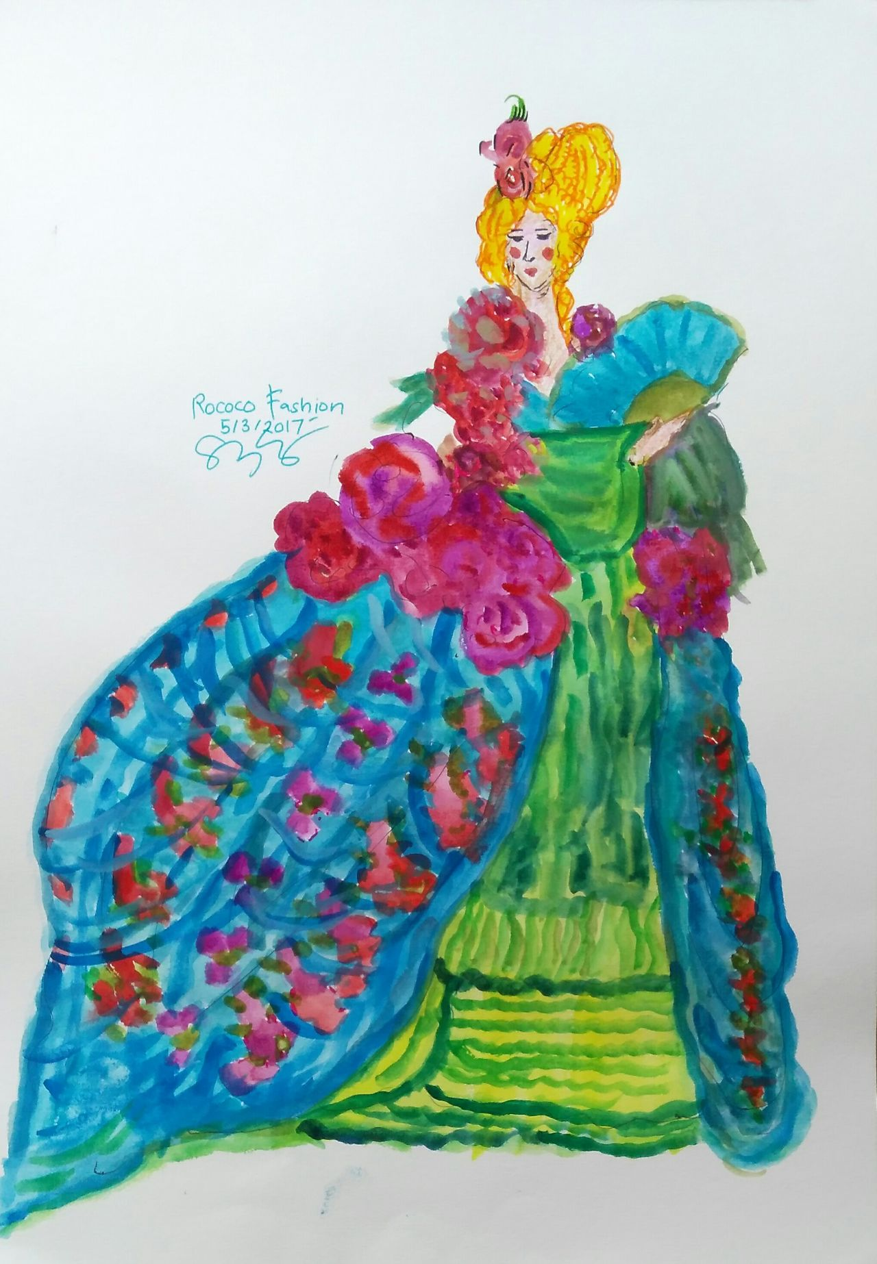 Multi Colored Celebration Astrology Sign No People Day Beautiful Woman Rococo Rococò Style Rococo 18th Century Style Fashion Fashion&love&beauty