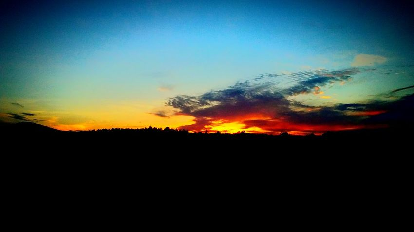 Fire breathing dragon! Silhouette Sunset Sky No People Scenics Tree Beauty In Nature Nature Outdoors Tranquil Scene Tranquility Landscape Cloud - Sky Day The Great Outdoors - 2017 EyeEm Awards