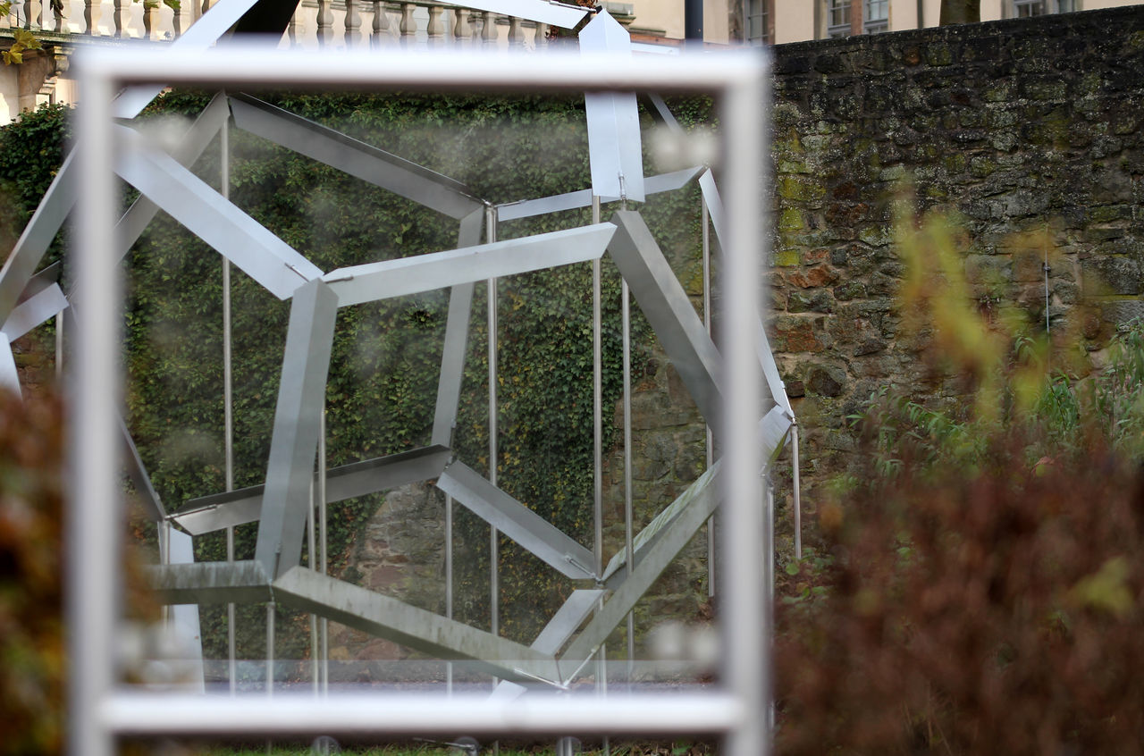 Anamorphose  Day Greenhouse Herbststimmung Installation Art Installation Work Lemgo Leonardo Da Vinci Nature No People Optische Täuschung Outdoors Schloss Brake Tree Weserrenaissance Museum