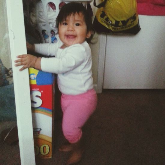 Happy 9 months to my baby!!!! ❤? My Princess Daughter Baby I Love You