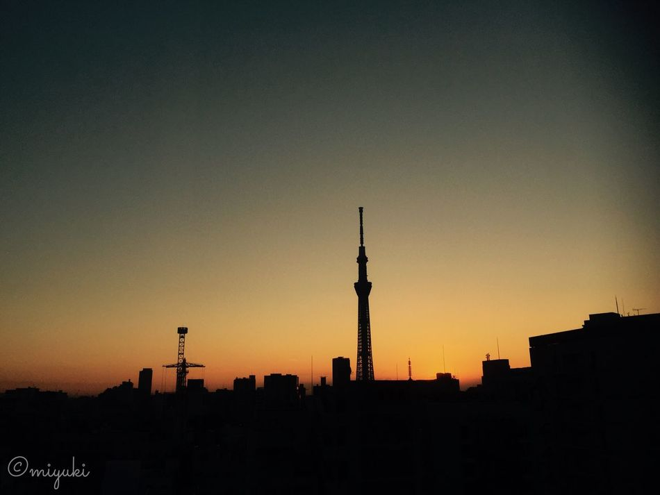 morning glow. Morning Glow Orange Color Tokyo Asakusa,tokyo,japan Skytree EyeEm Best Shots Silhouette