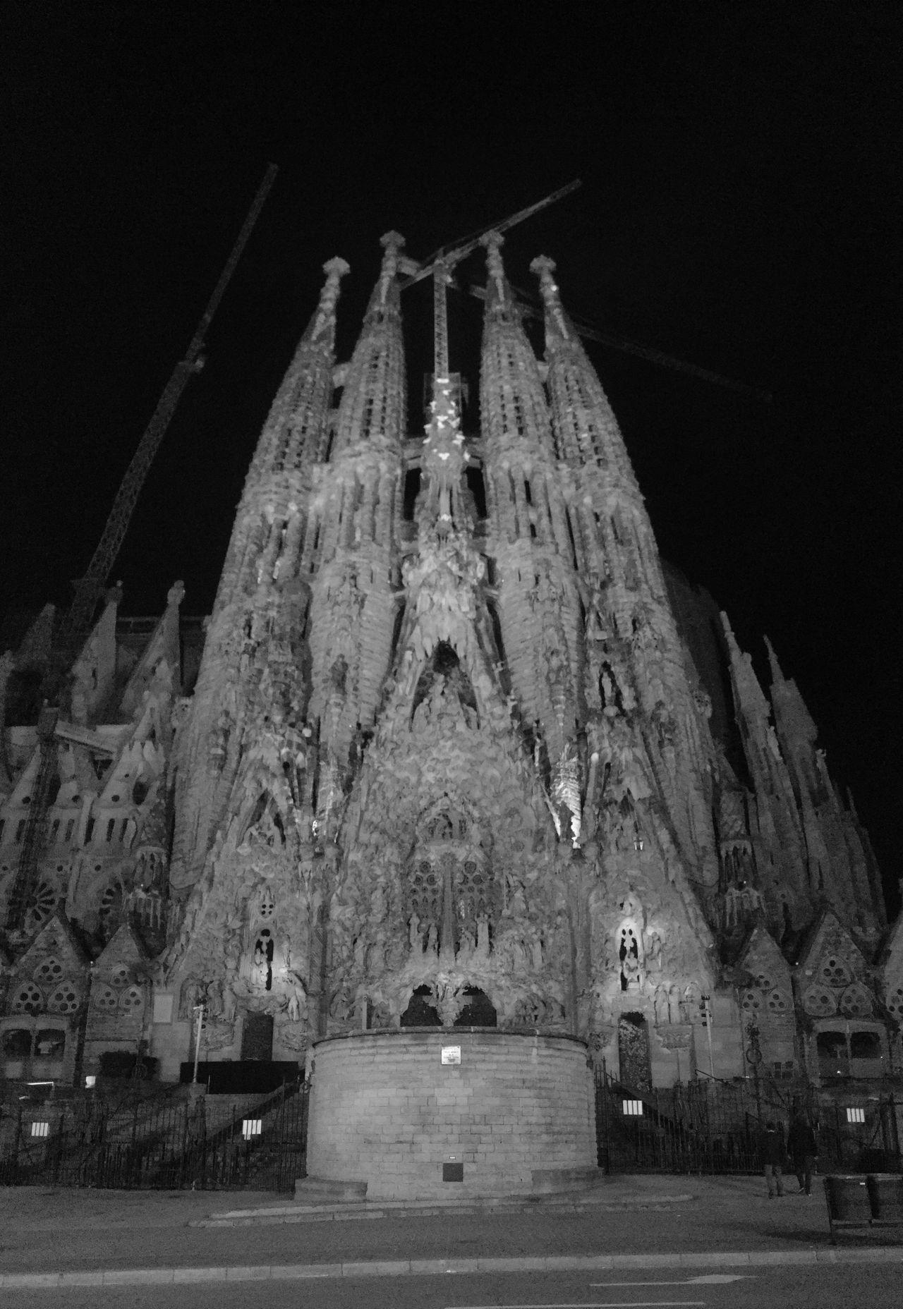 Sagrada Familia Sagradafamilia Barcelona Blackandwhite