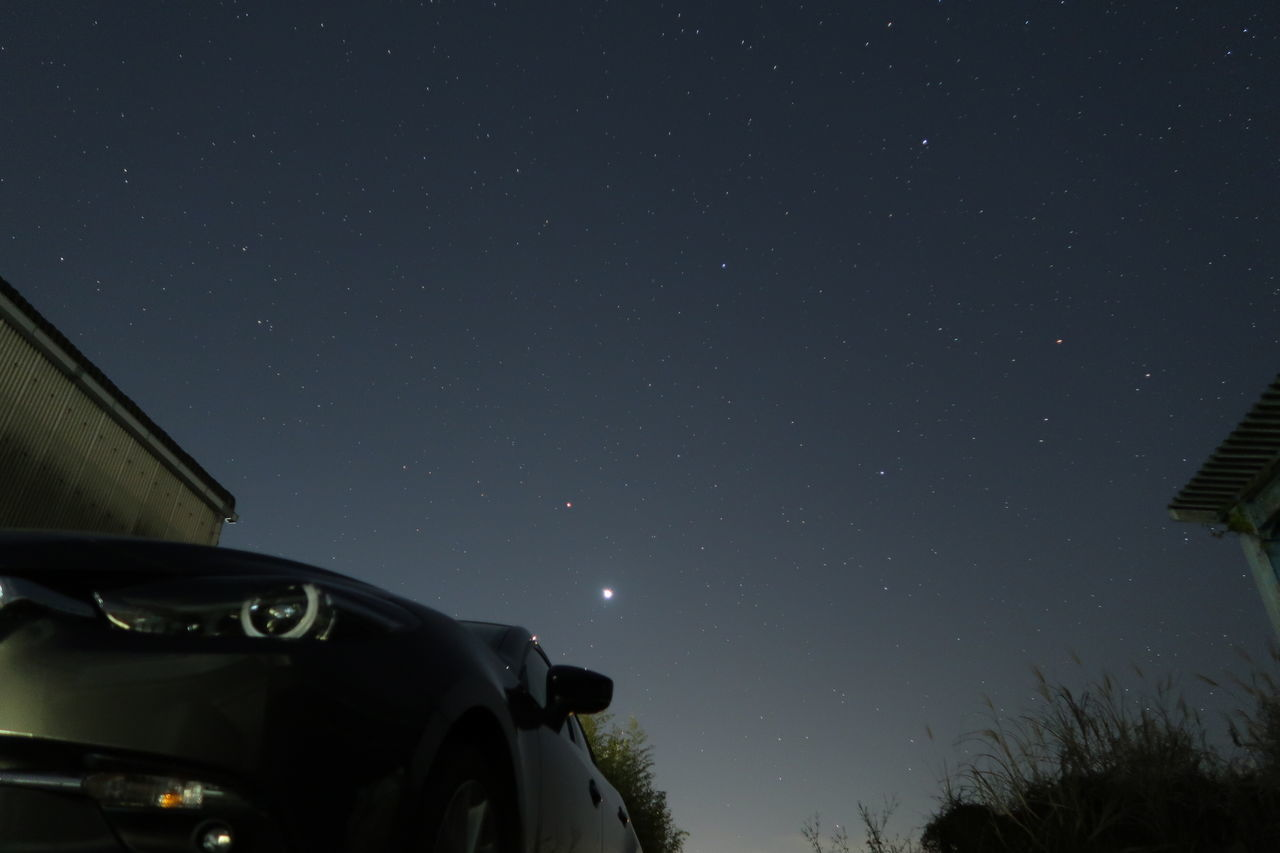 Star - Space Night Astronomy Sky Space And Astronomy Mode Of Transport Research Car Transportation Star Field Space Low Angle View Science Astronomy Telescope No People Constellation Nature Galaxy Beauty In Nature Milky Way MaZda3 Mazda 22XD アクセラ マツダ