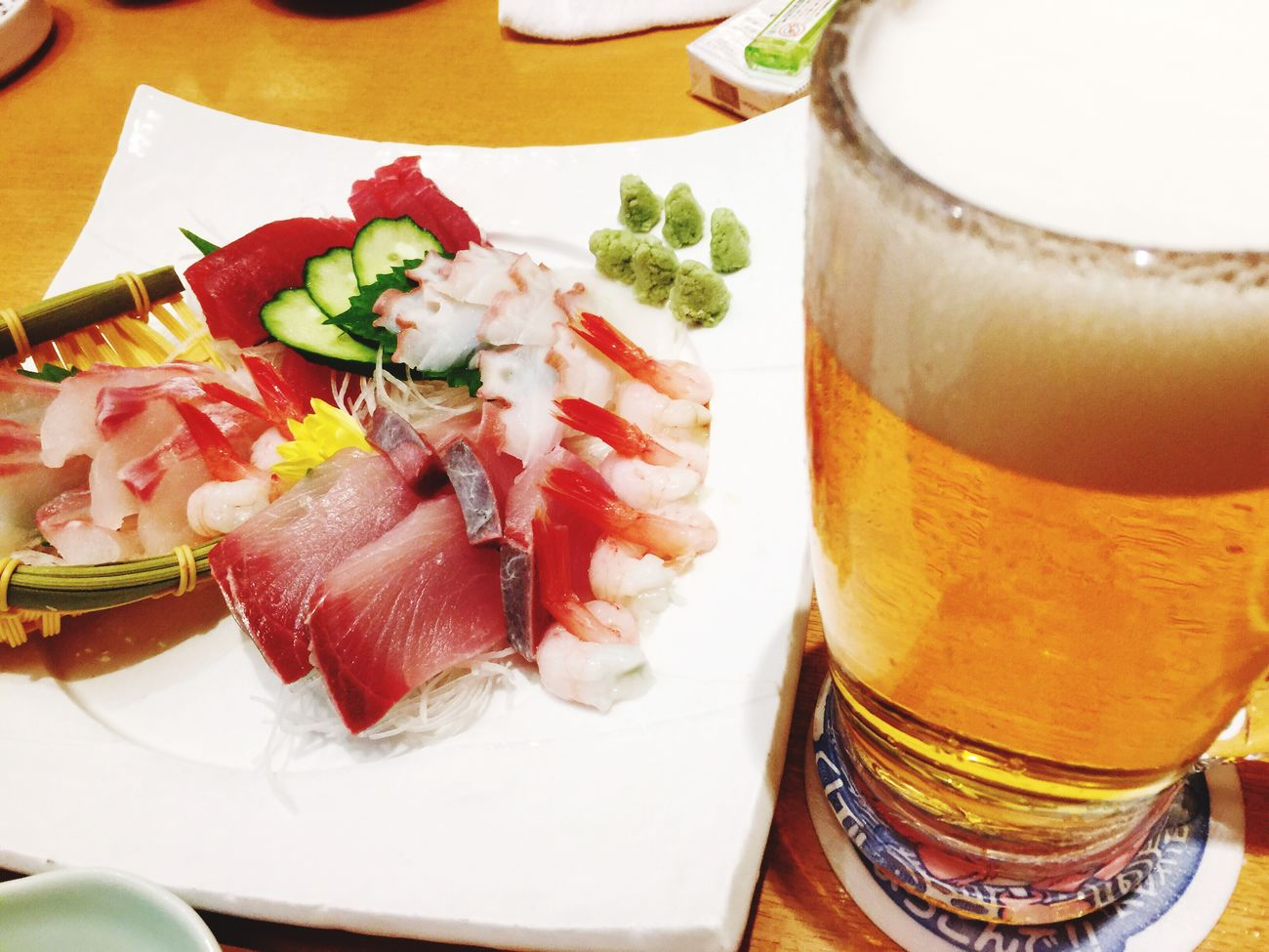 新年会 さしみ 生ビール Bier Kumamoto