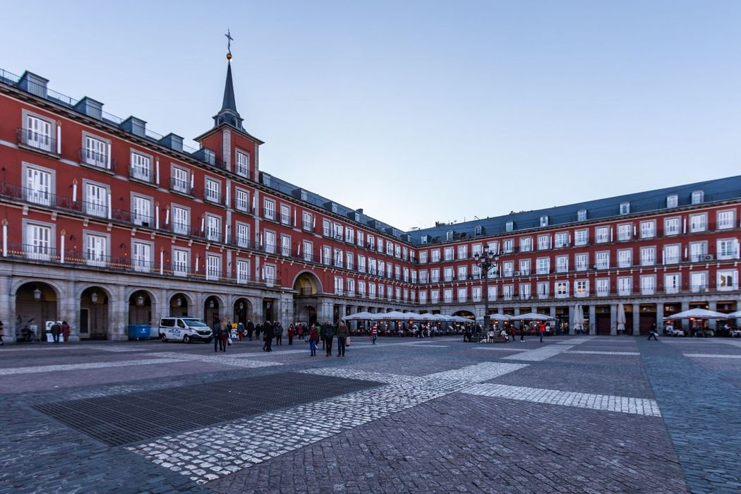 Plaza Mayor, Madrid, Spain Travel Destinations Building Exterior Street City Architecture Travel Built Structure Europe Urbanphotography Outdoors Madrid SPAIN España Sky Day People