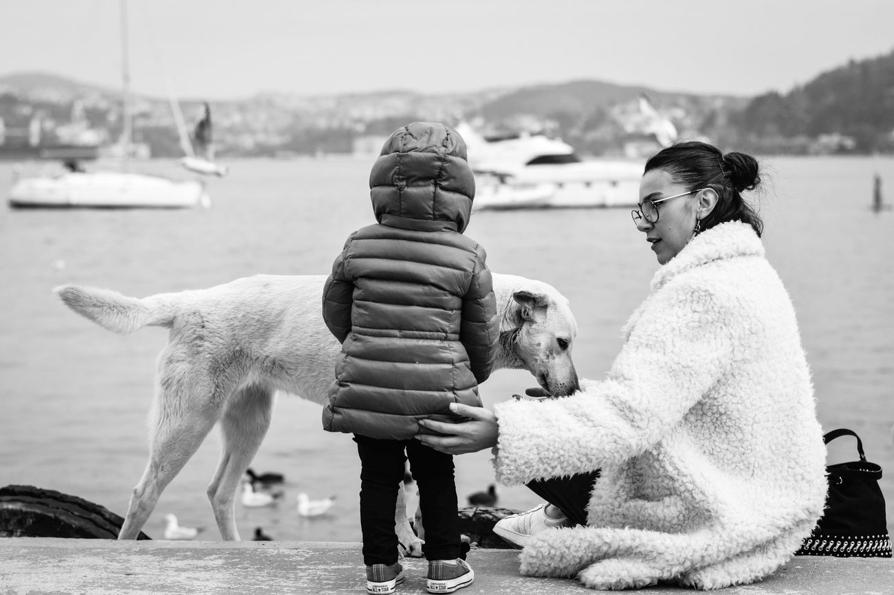 Istanbul Dog Childhood Nature Friendship Outdoors People Turkey Nikon 50mm Photography Vscocam EyeEm Best Shots Boats Shore Mother Love