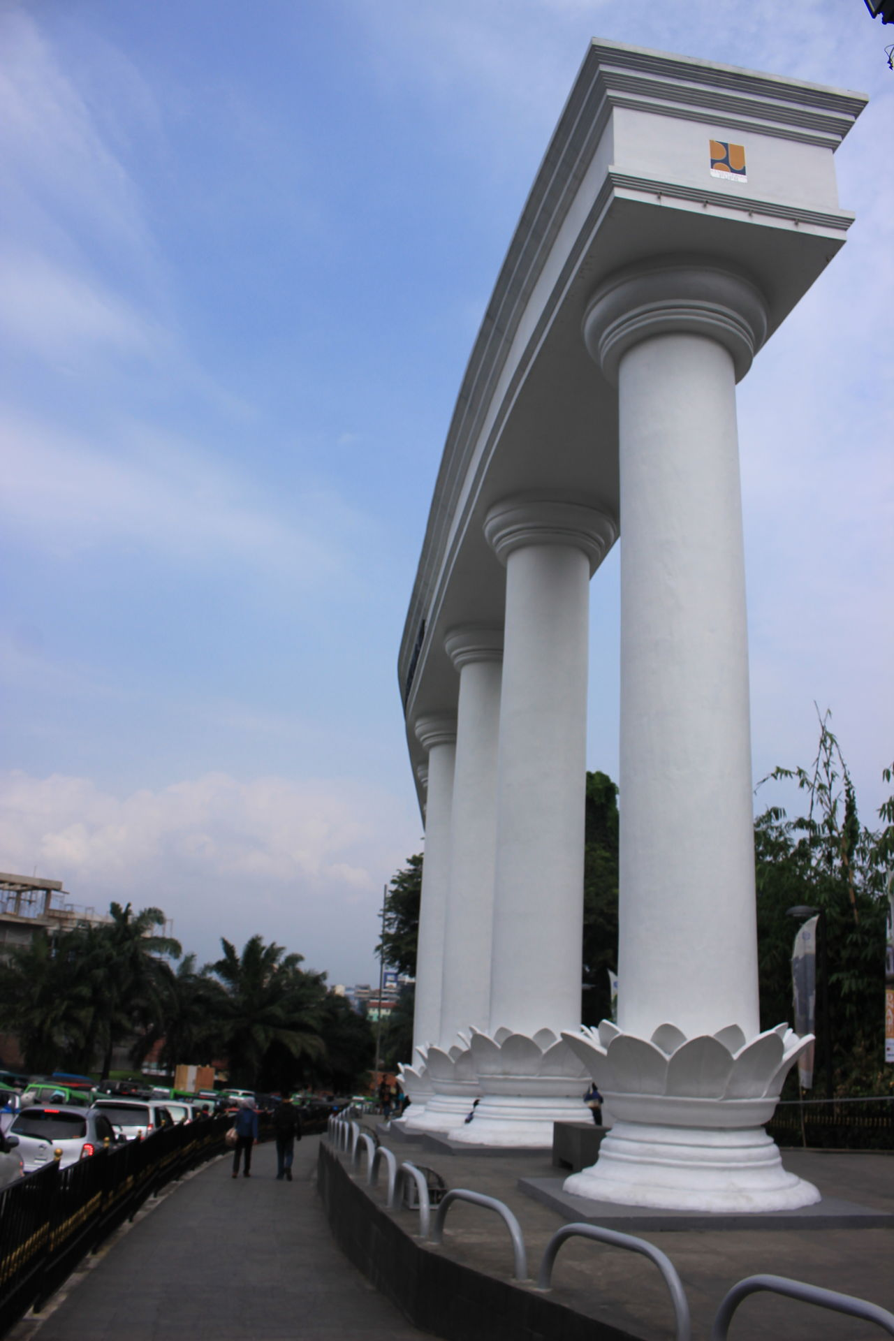 City gates bogor Architectural Column Architecture Built Structure Cloud - Sky Day Nature Outdoors Sky Streetphotography Tree