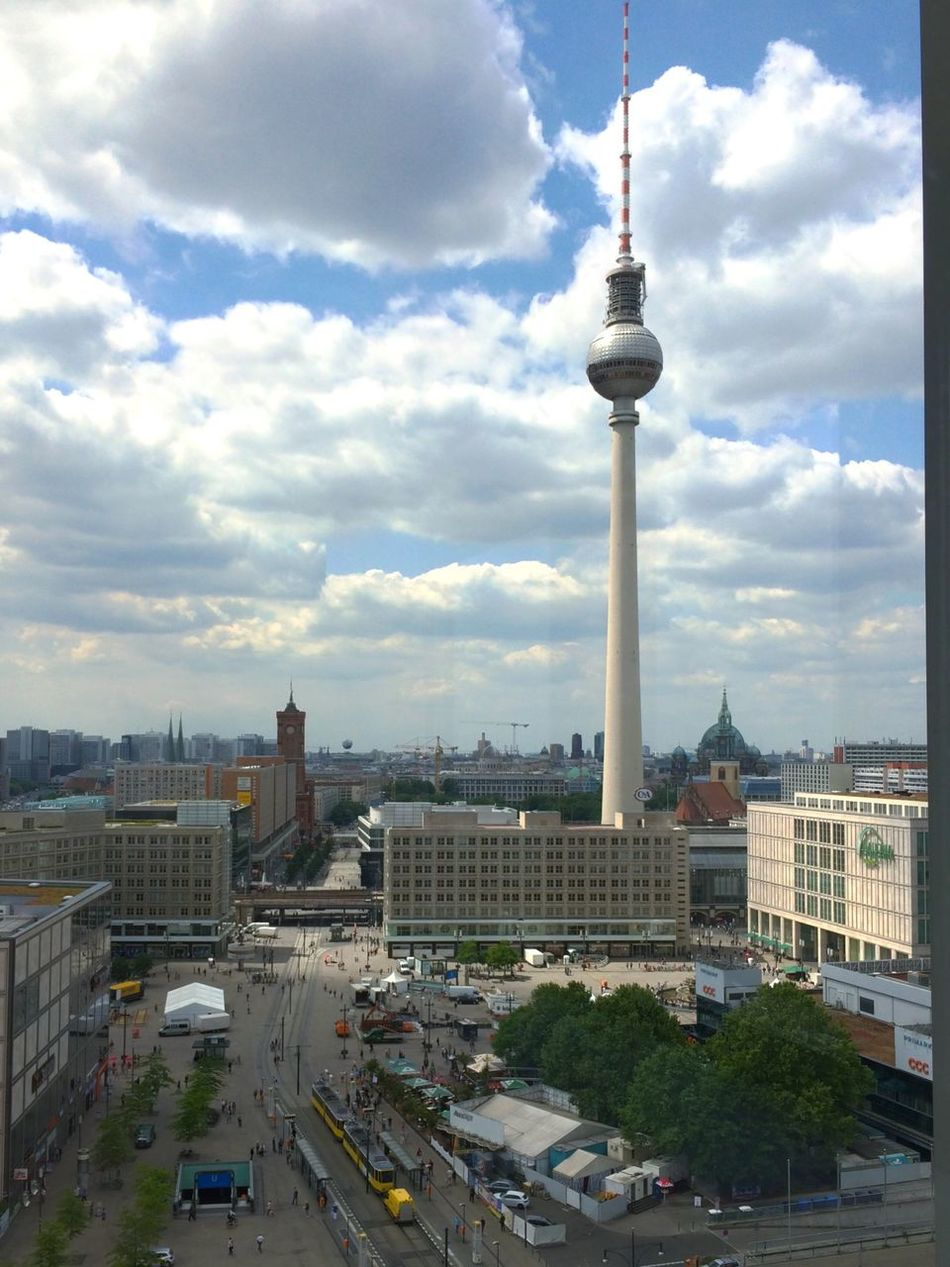 Berlin Berliner Ansichten Berlin Photography Berlin Mitte Tvtowerberlin Tvtower Fernsehturm Sky Sky And Clouds Panorama Panoramic Panoramic View Panoramashot View View From Above View From The Window...