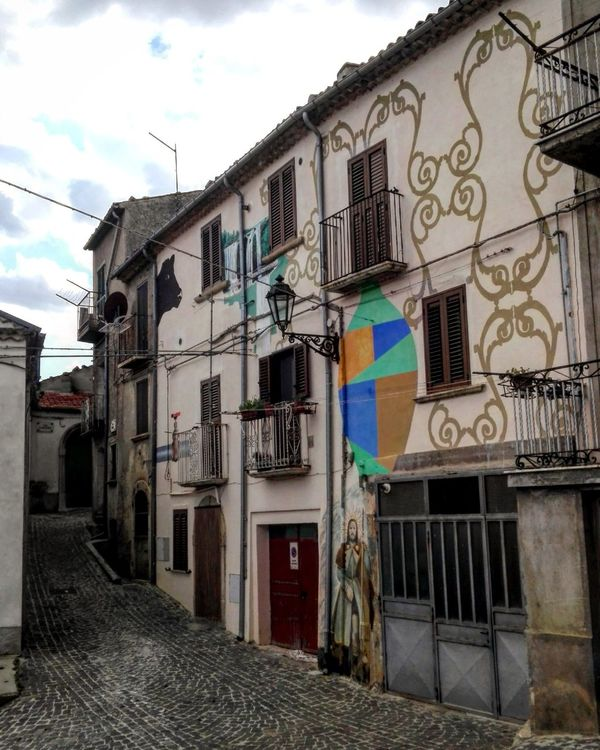 Building Exterior Architecture Multi Colored Built Structure Architecture Casalciprano Molise Italy Italia Village Borgo Borgo Antico Colors Stone Stone Material Stone Architecture Museum Open Museum OutdoorsMuseo All'aperto Graffiti Graffiti Wall Art Decoration Wall