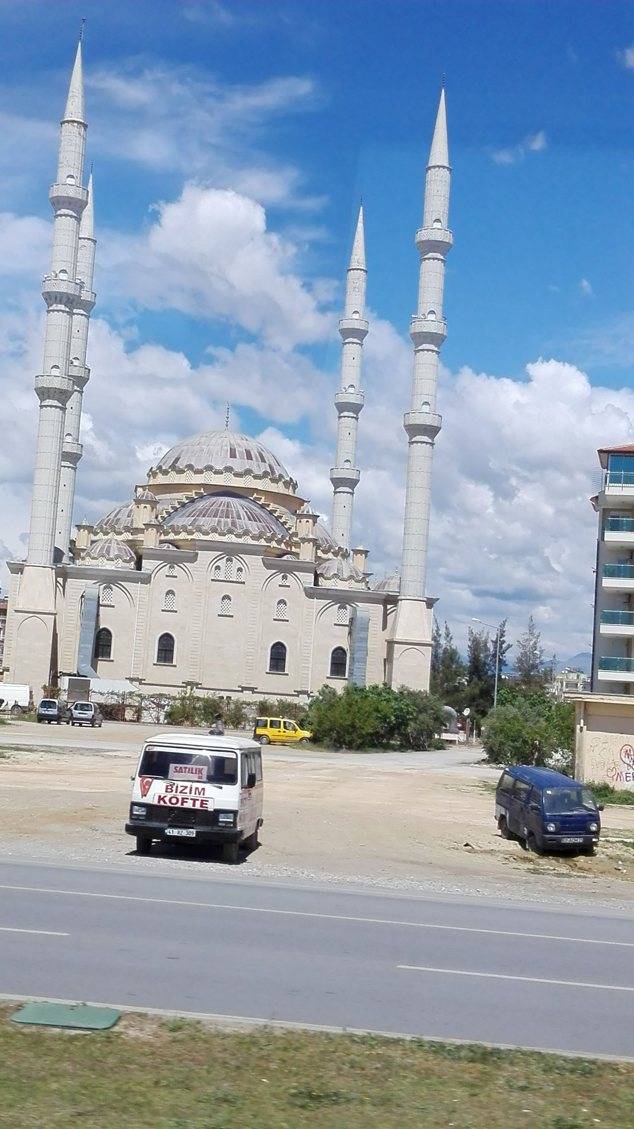 Architecture Blue Built Structure Capital Cities  City Cloud Cloud - Sky Day Façade Mode Of Transport Moschee Mosque Turkey No People Outdoors Road Sky Tourism Travel Destinations