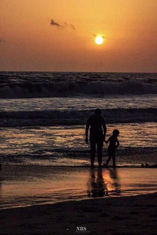 Sinquerimbeach Goa Goa India Sunset And Clouds  Sunsetlovers LikeFatherLikeSon