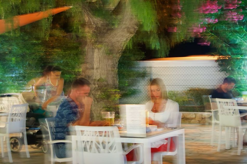 Blurred Image Casual Clothing Celebration Couple Enjoying Enjoyment Fun Happiness Leisure Activity Lifestyles Motion Outdoor Restaurant Party - Social Event Person Restaurant Sitting Togetherness Young Adult Fresh On Eyeem