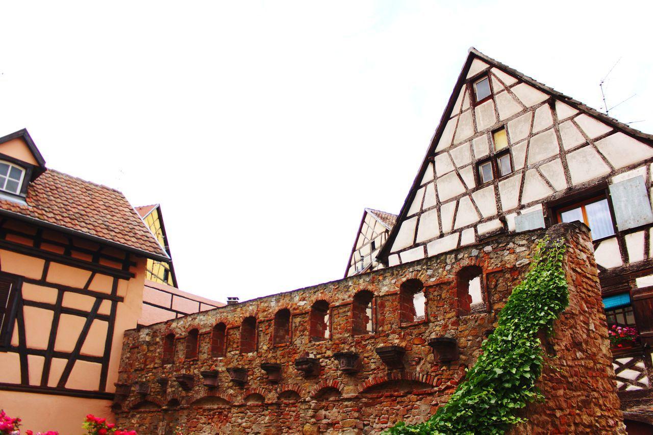 Architecture Built Structure Building Exterior History Travel Destinations No People Low Angle View Cloud - Sky City Colmar, Alsace, France