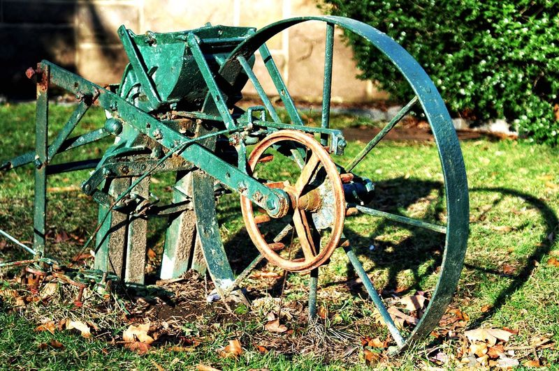 Abandoned Wheel Run-down No People Rusty Field Old-fashioned Close-up Farmers Tool