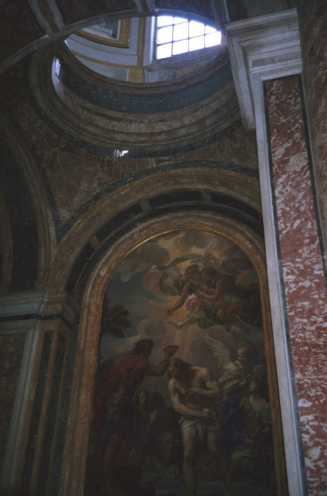 35mm Film Analogue Photography Arch Architecture Built Structure Church Darkness Decoration Fresco Indoors  Marble Place Of Worship Religion Vatican