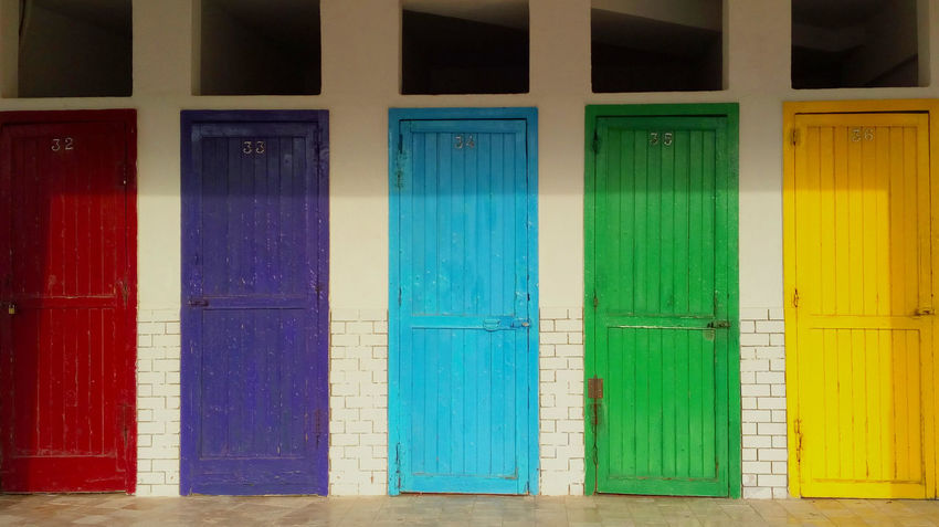Doors Colorful Door Green Color Multi Colored No People Wood - Material The Graphic City