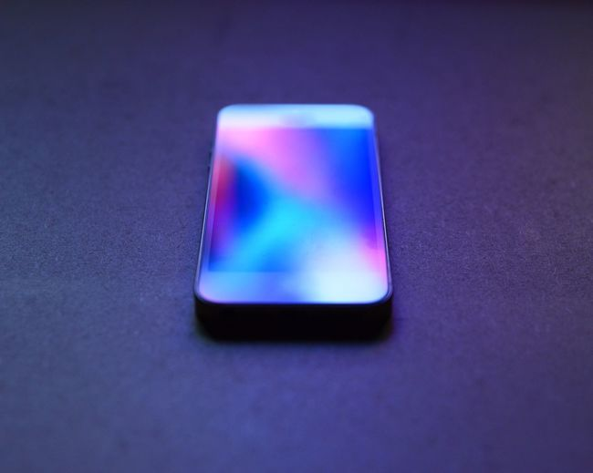 Abstract Blue Close-up Focus On Foreground Mobile Phone Multi Colored No People Reflection Tranquil Scene Tranquility Vibrant Color
