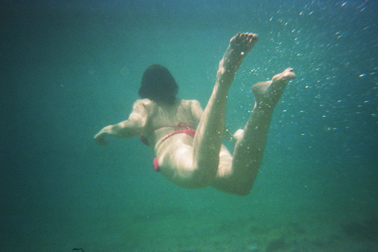 Day Full Length Leisure Activity Live For The Story One Person Outdoors People Real People Sea Summer Swimming UnderSea Underwater Underwater Photography Water Young Adult Young Women