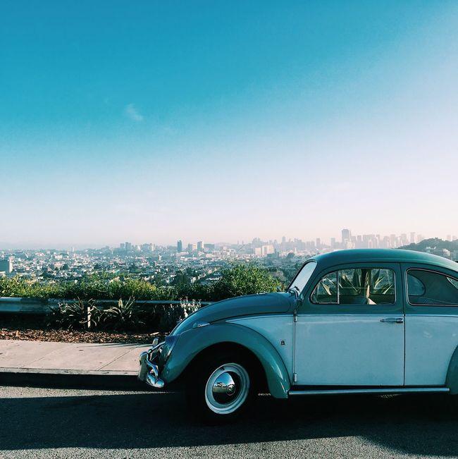 Gorgeous summer morning // VW Beetle Vintage Cars San Francisco