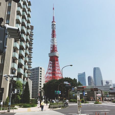 EyeEmJapan Tokyo Tower 鉄塔♡Love まぶしく太陽輝く東京の朝^_^今日も真夏日となるよなーっ水分補給し熱中症に気をつけましょう!素敵な日曜日をおすごし下さい♪ Have A Nice Weekend