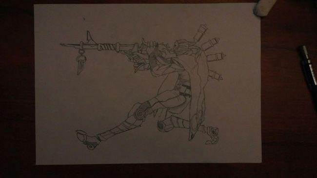 5 damn hours Pencil Drawing League Of Legends Art, Drawing, Creativity Jhin Art