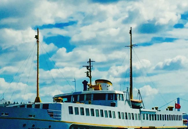 Ferryboat Vapur Sky And Clouds Sky IPhoneography Mobilephotography Mobile Photography şehirhatlarıvapuru