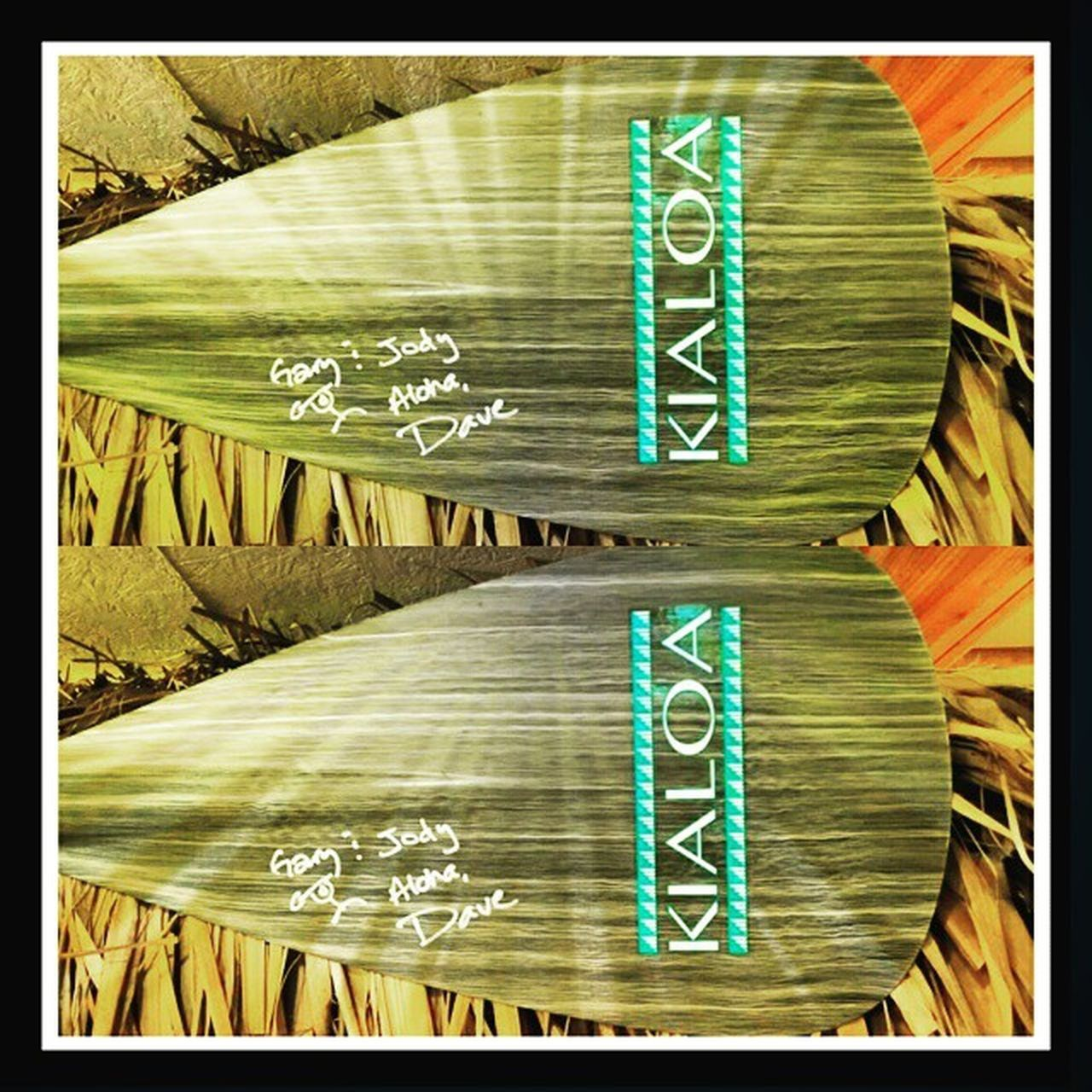 Kialoapaddles DaveChun Thanks to Dave Chun designer @ Kialoa Paddle for the signed paddle. To Gary from JimmyFordsBoards & Jody from Sistersofthesunyoga @stand_up_paddle @stand.up.paddle 27north Surprisepaddle Paddleboarding Watersport FitnessFreak Exercise Fun