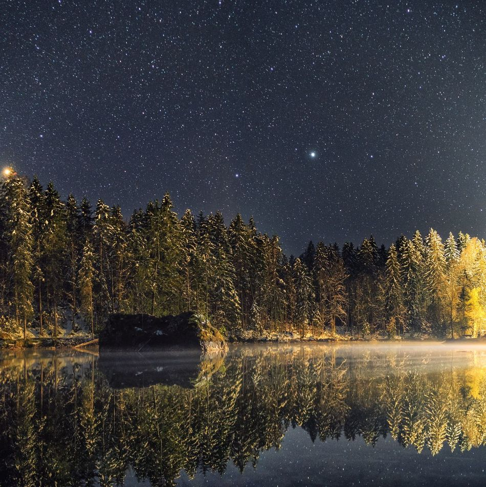 Star - Space Reflection Night Astronomy Star Field Constellation Lake Space Galaxy Milky Way Nature Sky Tree Beauty In Nature Scenics Astrology Sign Symmetry Water Clear Sky Outdoors Bayern Garmisch-partenkirchen