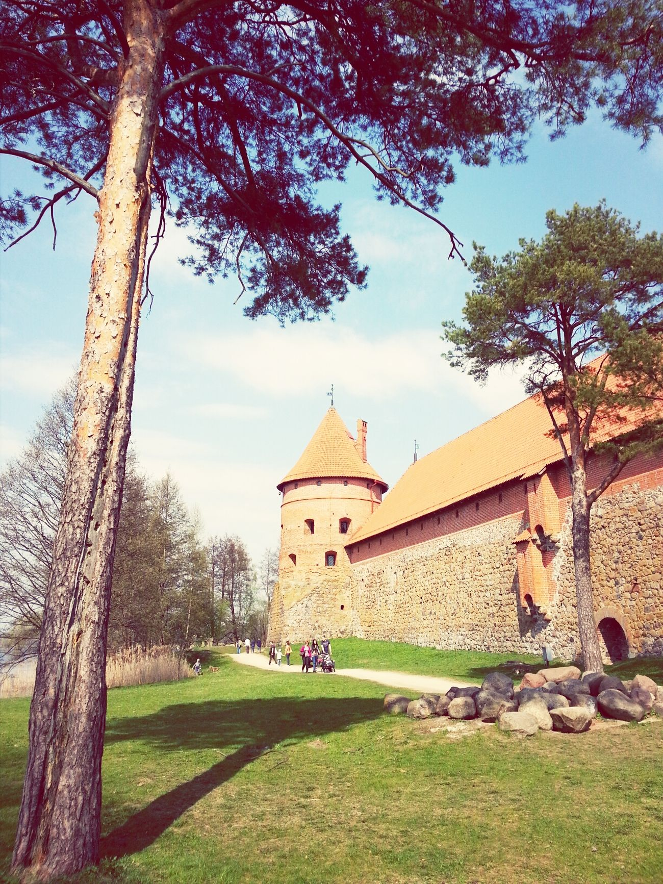 Spring in Trakai Castle