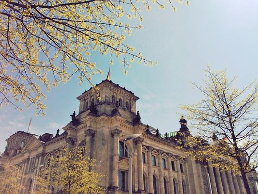 Taking Photos at Reichstag by Nin Chen