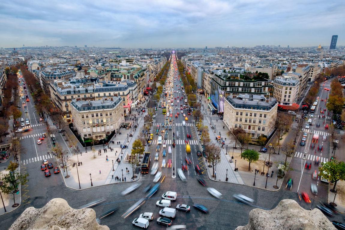 Arc De Triomphe Arc De Triomphe, Paris Car Cars City City France French Long Exposure Motion Paris Urban
