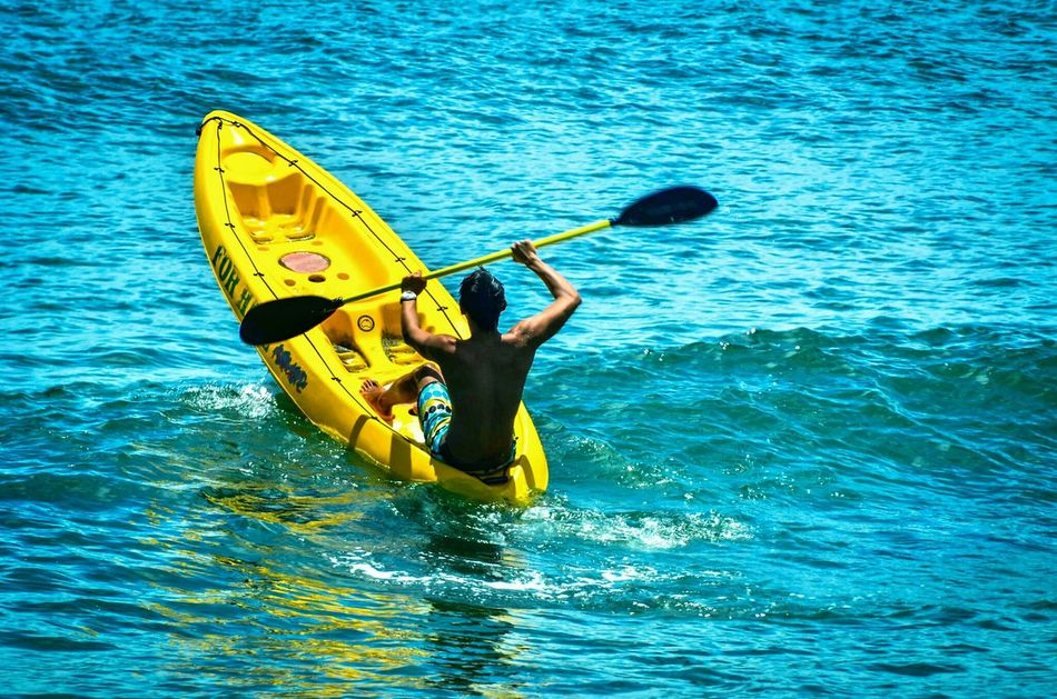 Youth Of Today Kayak Rowing Beachphotography Sea Ocean Yellow Wave Youth Seasport Launionphilippines Travel Photography Travel Colors Vibrant Colors Showcase: January Followfriday Eyeem Philippines Philippines Bluewave Blue Wave The Essence Of Summer- 2016 EyeEm Awards The Essence Of Summer