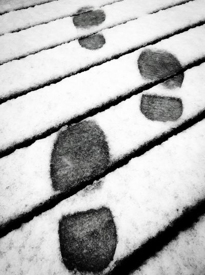 Following in Someone's Footsteps Cold Temperature Winter Snow Full Frame No People Nature Day Outdoors Close-up Ice Backgrounds Ice Rink Lines Fresh Snow Footsteps Shoe Prints White Following Following In Someone's Footsteps Footsteps In The Snow Footstep IPhoneography